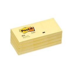 Post-It - PACK 12 BLOC DE NOTAS ADHESIVAS AMARILLAS 100 HOJAS 38X51 POST-IT 3M653