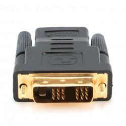Gembird - A-HDMI-DVI-2 adaptador de cable Negro