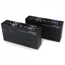 StarTechcom - Extensor de Consola KVM por Cat 5 Ethernet 200m con USB y Vdeo VGA Doble