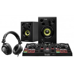 Hercules - DJLearning Kit controlador dj Negro DVS Sistema de vinilo digital para scratch digital