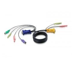 Aten - 2L5303P cable para video teclado y ratn kvm 3 m Negro