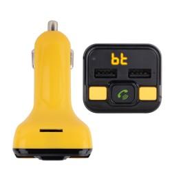 NGS - Spark BT Curry transmisor FM 875 - 108 MHz Encendedor de cigarrillos Negro Amarillo