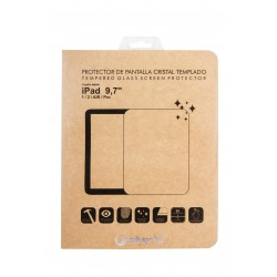 SilverHT - Protector de pantalla de cristal templado para Apple iPad Air 1 y 2