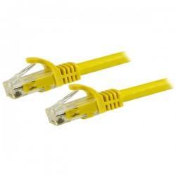 StarTechcom - Cable de 15m Cat6 Ethernet de Red Amarillo - RJ45 sin Enganches - 24AWG