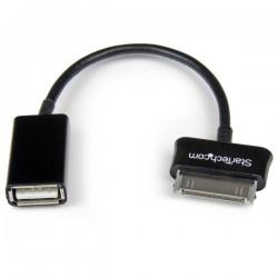 StarTechcom - Cable Adaptador USB OTG para Samsung Galaxy Tab - Negro - USB A Hembra