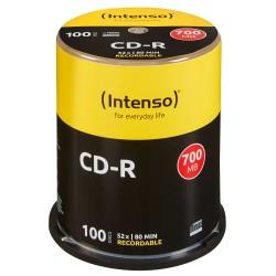 Intenso - CD-R 700MB 100 piezas
