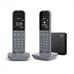 Gigaset - CL390 Duo Telfono DECT/analgico Gris Identificador de llamadas