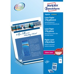 Avery - Avery Zweckform Premium Colour Laser Photo Paper 170 g/m A4 210x297 mm Impresin lser Brillo Blanco 170 g/m F