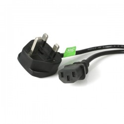 StarTechcom - Cable de Alimentacin Corriente de 3m para Ordenador C13 a Enchufe Britnico Clavija Inglesa - BS 1363