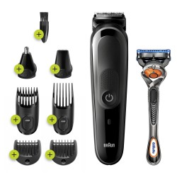 Braun - 81705165 cortadora de pelo y maquinilla Negro Gris