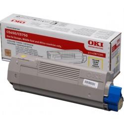 OKI - 43872305 cartucho de tner Original Amarillo 1 piezas