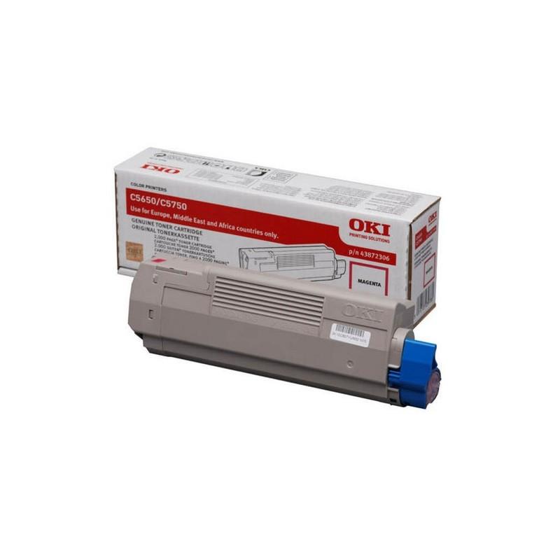 OKI - 43872306 cartucho de tner Original Magenta 1 piezas