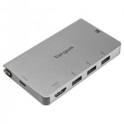 Targus - ACA963EU hub de interfaz USB 32 Gen 1 31 Gen 1 Type-C 5000 Mbit/s Plata