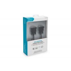Digitus - 2m 2xDVI-D cable DVI DVI-D Negro