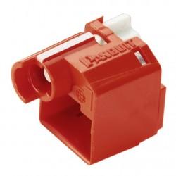 Panduit - PSL-DCPLRX protector de cable Rojo 10 piezas
