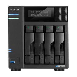 Asustor - AS6604T servidor de almacenamiento J4125 Ethernet Negro NAS