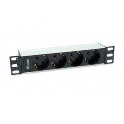 Equip - 333311 unidad de distribucin de energa PDU 1U Negro Plata 4 salidas AC