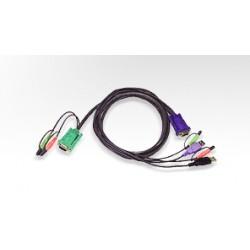 Aten - USB KVM Cable cable para video teclado y ratn kvm 3 m Negro