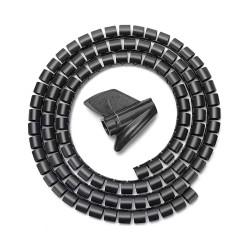 AISENS - Organizador de cable en espiral 25mm Negro 10m