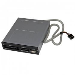 StarTechcom - Adaptador Baha Frontal 35in Lector para Tarjetas Memoria Flash SD CF SDHC XD M2 MS 22 en 1