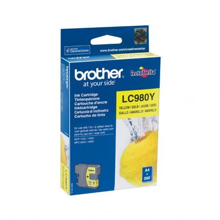 Brother - LC-980Y cartucho de tinta Original Amarillo 1 piezas