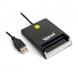 iggual - IGG316740 lector de tarjeta magntica USB Negro