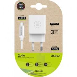 TECH1TECH - TEC2401 cargador de dispositivo mvil Blanco Interior