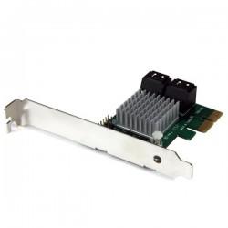 StarTechcom - Tarjeta Adaptadora Controladora PCI Express PCI-E SATA 3 III 6Gbps RAID 4 Puertos con HyperDuo