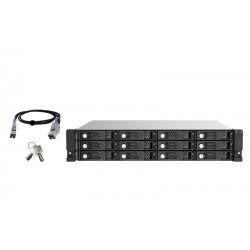 QNAP - TL-R1220Sep-RP Carcasa de disco duro/SSD Negro Gris 25/35