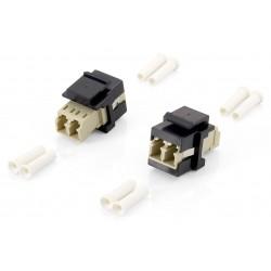 Equip - 125570 adaptador de fibra ptica LC/LC 8 piezas Beige Negro