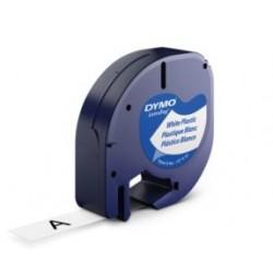 DYMO - 12mm LetraTAG Plastic tape cinta para impresora de etiquetas