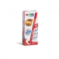 Carioca - 43039/03 bolgrafo de gel Bolgrafo de gel con tapa Medio Rojo 12 piezas