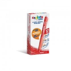 Carioca - 43043/03 bolgrafo de gel Bolgrafo de gel de punta retrctil Medio Rojo 12 piezas