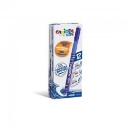 Carioca - 43039/02 bolgrafo de gel Bolgrafo de gel con tapa Medio Azul 12 piezas