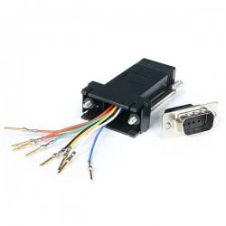 StarTechcom - Adaptador Conversor Modular Serie de DB9 a RJ45 - Macho a Hembra