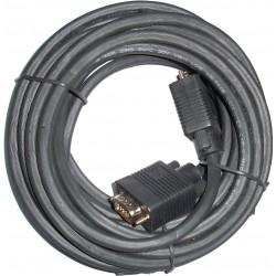 3GO - 18m VGA M/M cable VGA 18 m VGA D-Sub Negro