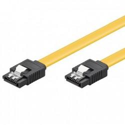Ewent - 05m 6GBs SATA 3 cable de SATA 05 m SATA 7-pin Negro Amarillo