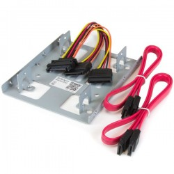 StarTechcom - Bracket Adaptador Bandeja de Montaje 2 Unidades de Disco Duro HDD de 25 a Baha de 35 Pulgadas