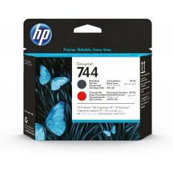 HP - Cabezal de impresin DesignJet 744 negro mate/rojo cromtico