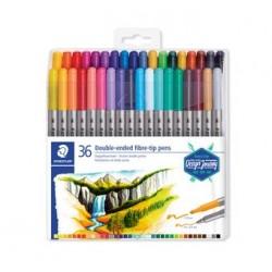 Staedtler - 3200 rotulador Fino/Extragrueso Multicolor 36 piezas