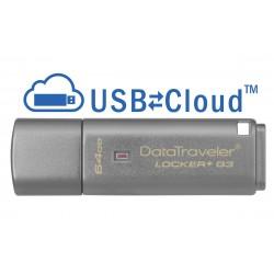 Kingston Technology - DataTraveler Locker G3 64GB unidad flash USB USB tipo A 32 Gen 1 31 Gen 1 Plata