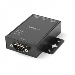 StarTechcom - Servidor de Dispositivos IP de 1 Puerto Serie RS232 - Convertidor Serial Ethernet RJ45 Montaje DIN
