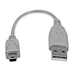 StarTechcom - Cable USB de 15cm para Cmara - 1x USB A Macho - 1x Mini USB B Macho - Adaptador Gris