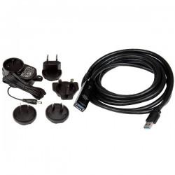 StarTechcom - Cable Extensor Alargador USB 30 SuperSpeed Activo de 3m - USB A Macho a Hembra - Negro