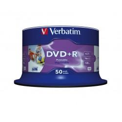 Verbatim - DVDR Wide Inkjet Printable No ID Brand 47 GB 50 piezas