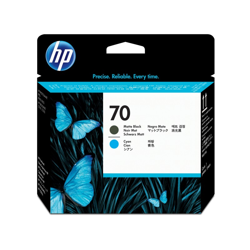 HP - Cabezal de impresin DesignJet 70 cian/negro mate