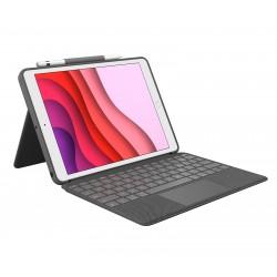 Logitech - Combo Touch teclado para mvil QWERTY Espaol Grafito Smart Connector
