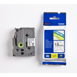 Brother - TZe-141 cinta para impresora de etiquetas Negro sobre transparente
