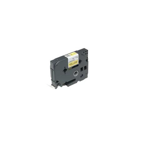 Brother - Gloss Laminated Labelling Tape - 18mm Black/Yellow cinta para impresora de etiquetas TZ
