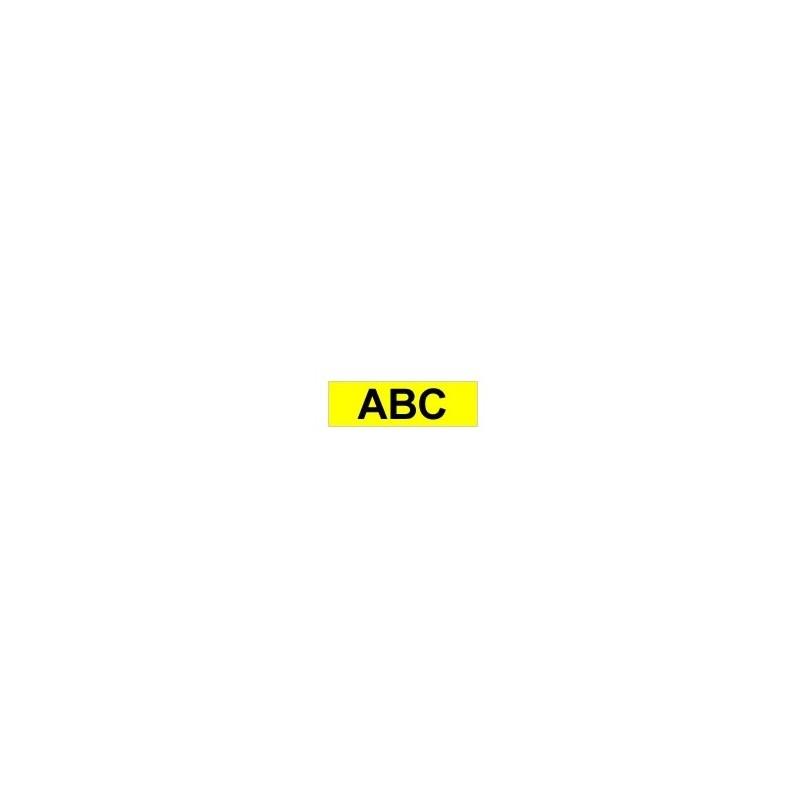 Brother - Gloss Laminated Labelling Tape - 9mm Black on Yellow cinta para impresora de etiquetas TZ